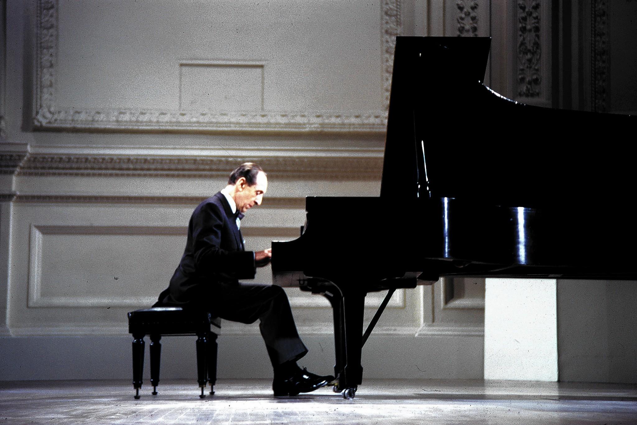Vladimir Horowitz at the Carnegie Hall concert in 1965.