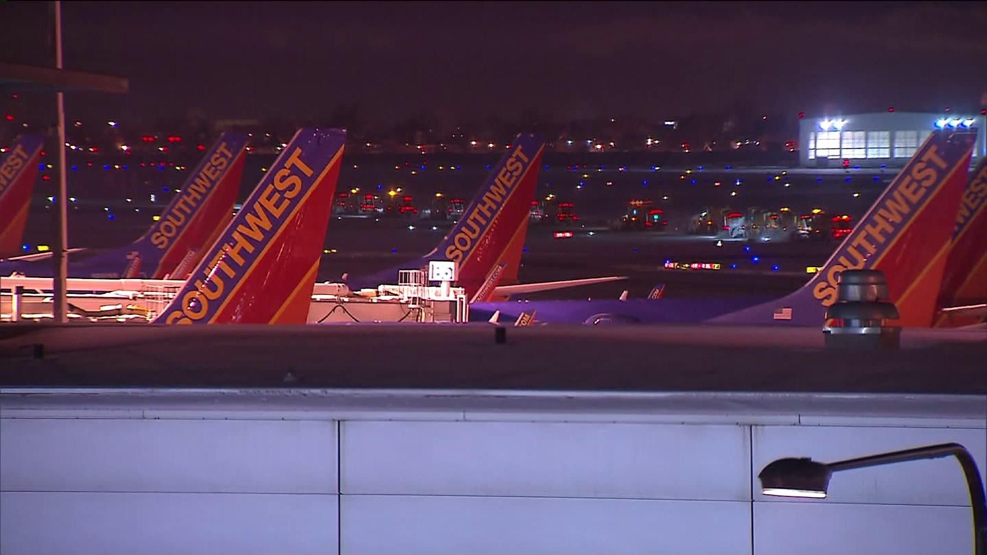 Southwest planes at Midway.