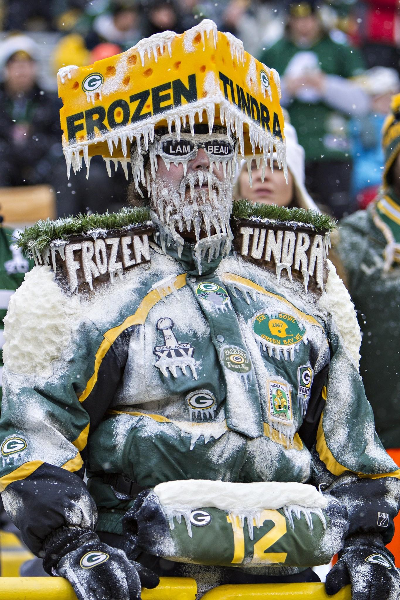 A Green Bay Packers fan during the Dec. 22 game against the Steelers.
