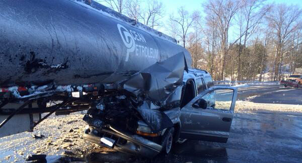 Tanker, SUV accident backs up traffic at MD-152 and I-95 North