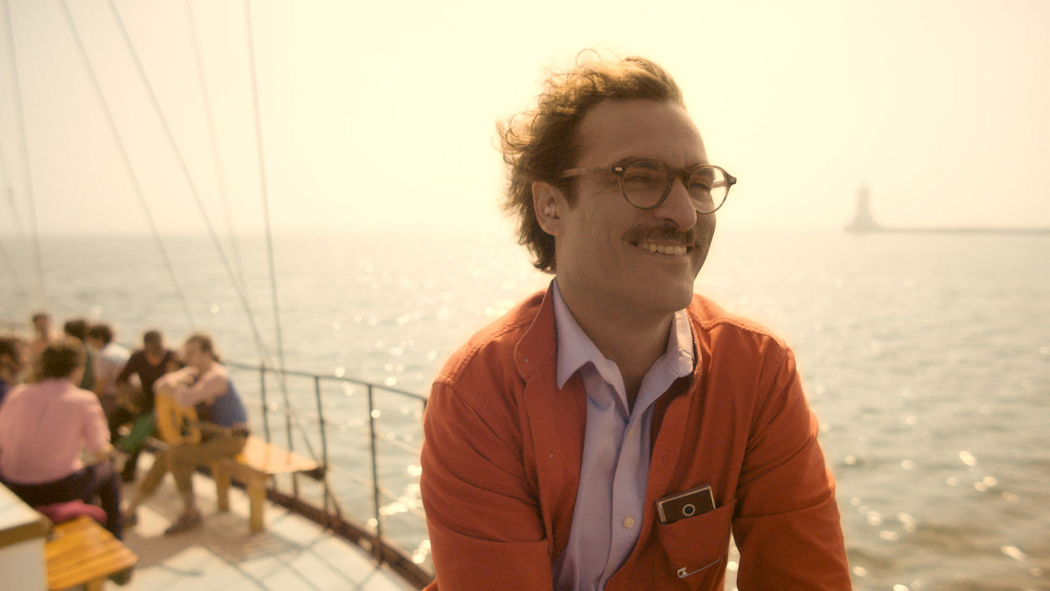 "Joaquin Phoenix stars in the Spike Jonze film ""Her."""