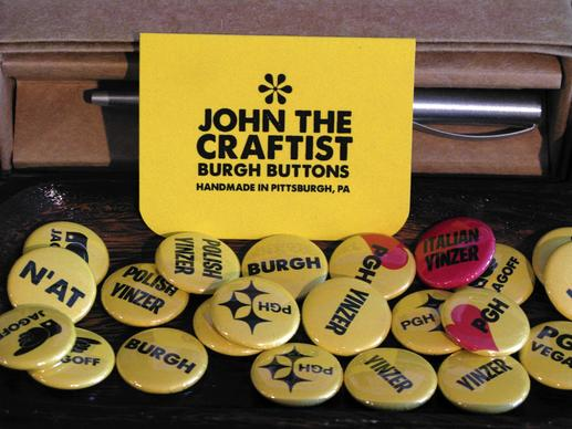 Pittsburgh is a city of fierce pride, evident even in its buttons.