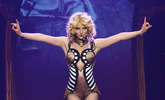 Britney Spears performs during the opening night of her new Las Vegas