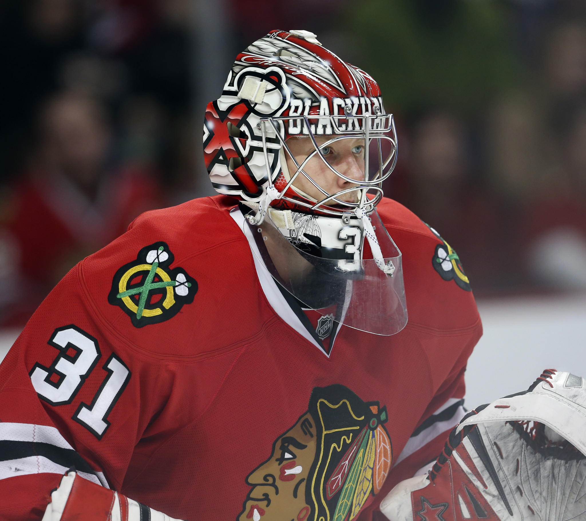 Chicago Blackhawks goalie Antti Raanta.