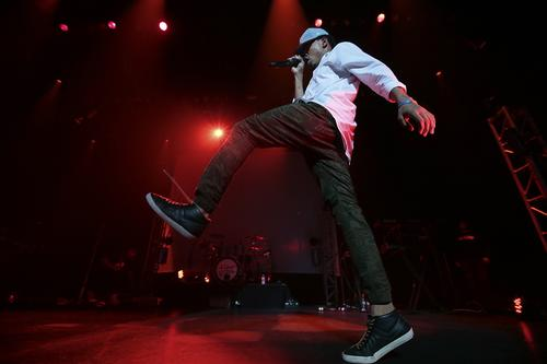 """Chance the Rapper performs at Club Nokia on Dec. 29, 2013. <a href=""""http://www.latimes.com/entertainment/music/posts/la-et-ms-live-review-chance-the-rapper-club-nokia-20131220,0,3727640.story""""><b>REVIEW: Chance the Rapper trips out at Club Nokia</b></a>"""