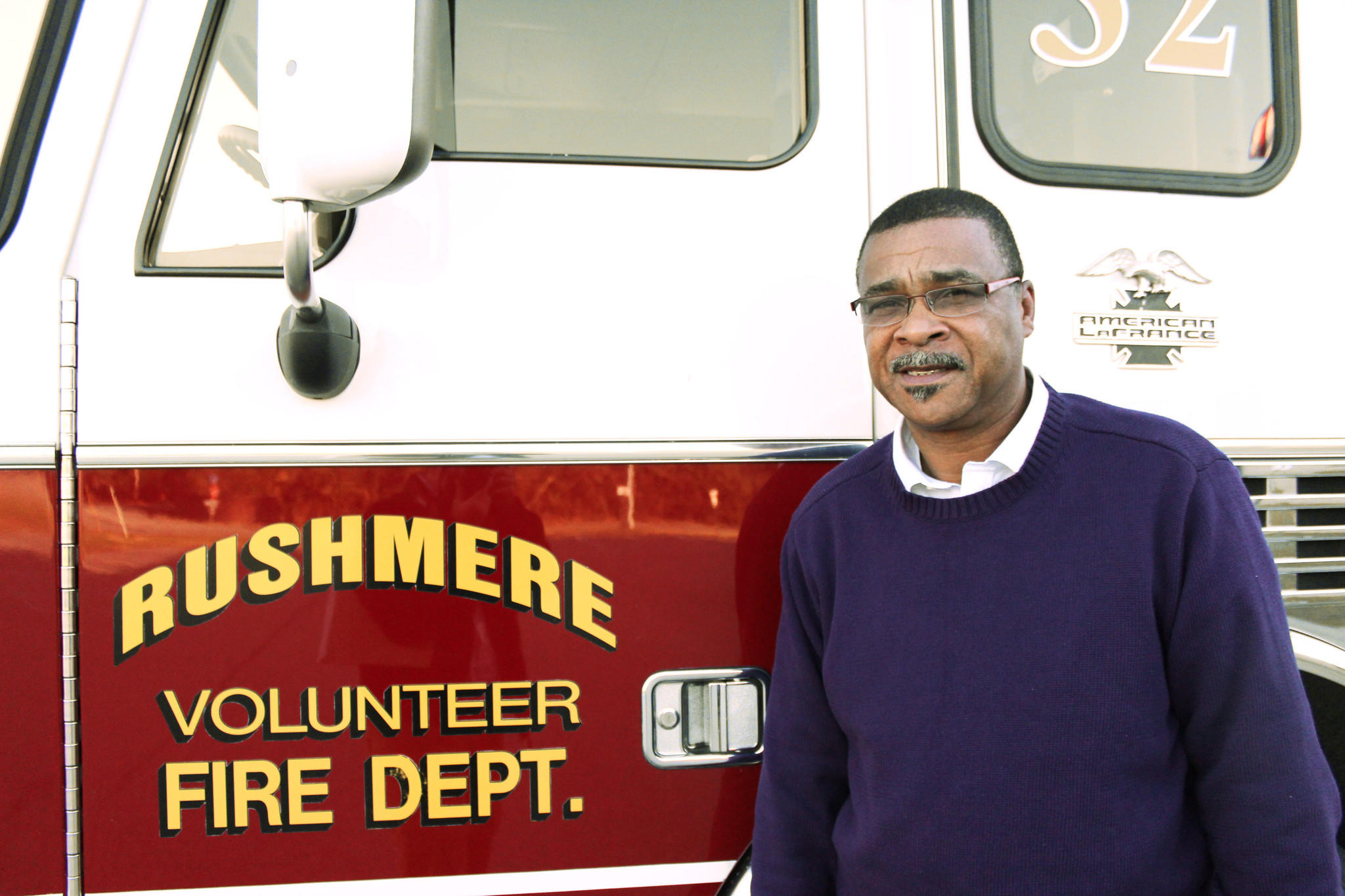 "Rudolph ""Rudy"" Jefferson, Isle of Wight's newest Supervisor, represents the Hardy District. This photo was taken at the Rushmere Volunteer Fire Station, where Jefferson has volunteered for 23 years and now serves as assistant chief."