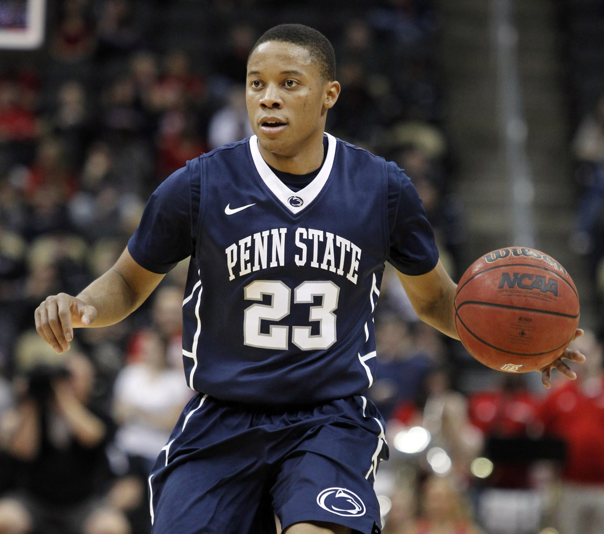 Penn State's Tim Frazier handles the ball against Duquesne.
