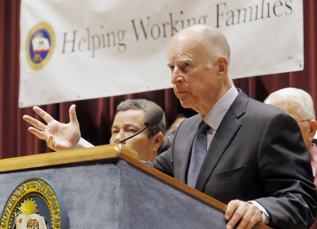 Jerry Brown Speaks In September Prior To Signing A Bill Raising The California Minimum