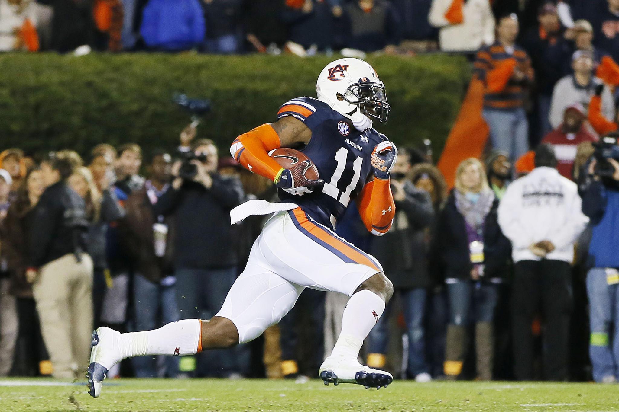 Auburn's Chris Davis returns a missed field goal for the winning touchdown vs. Alabama.