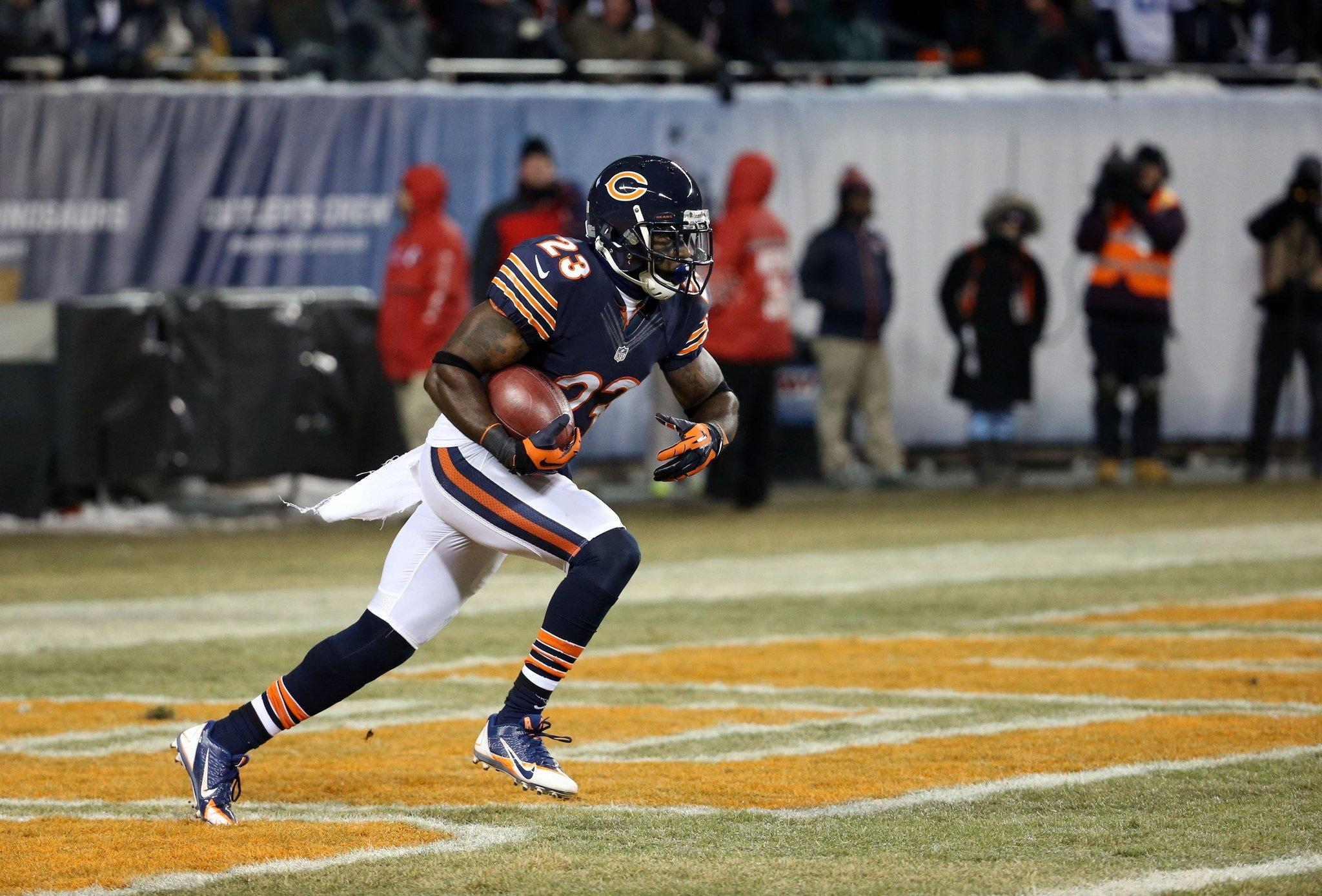 Devin Hester returns the opening kickoff against the Cowboys at Soldier Field.
