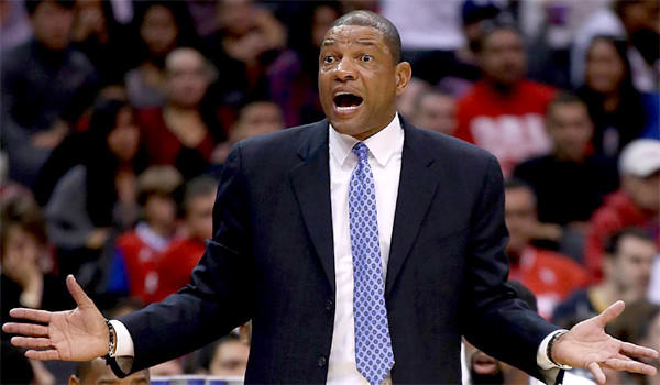 Doc Rivers shot down a report that the Clippers had discussed the possibility of trading Blake Griffin for New York's Carmelo Anthony.