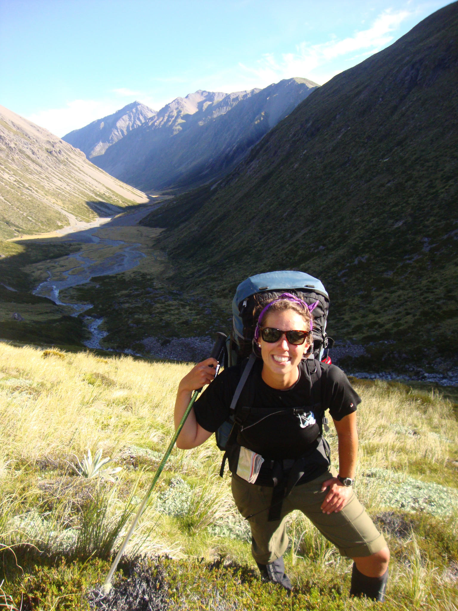 Wendy Cirko poses for a photo during her National Outdoor Leadership Schools Wilderness Expedition to New Zealands Smith Island.