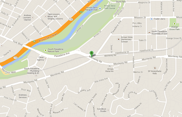 Approximate location of Gold Line fatality.