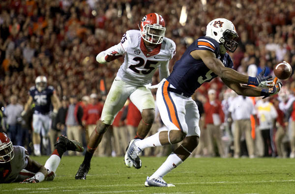 Auburn wideout Ricardo Louis' improbable Nov. 16 catch and score on fourth-and-18 with 36 seconds left in a game against Georgia may have been more a matter of destiny than luck. Auburn won that game and went on to defeat Alabama the two weeks later to earn a trip to the BCS Championship.