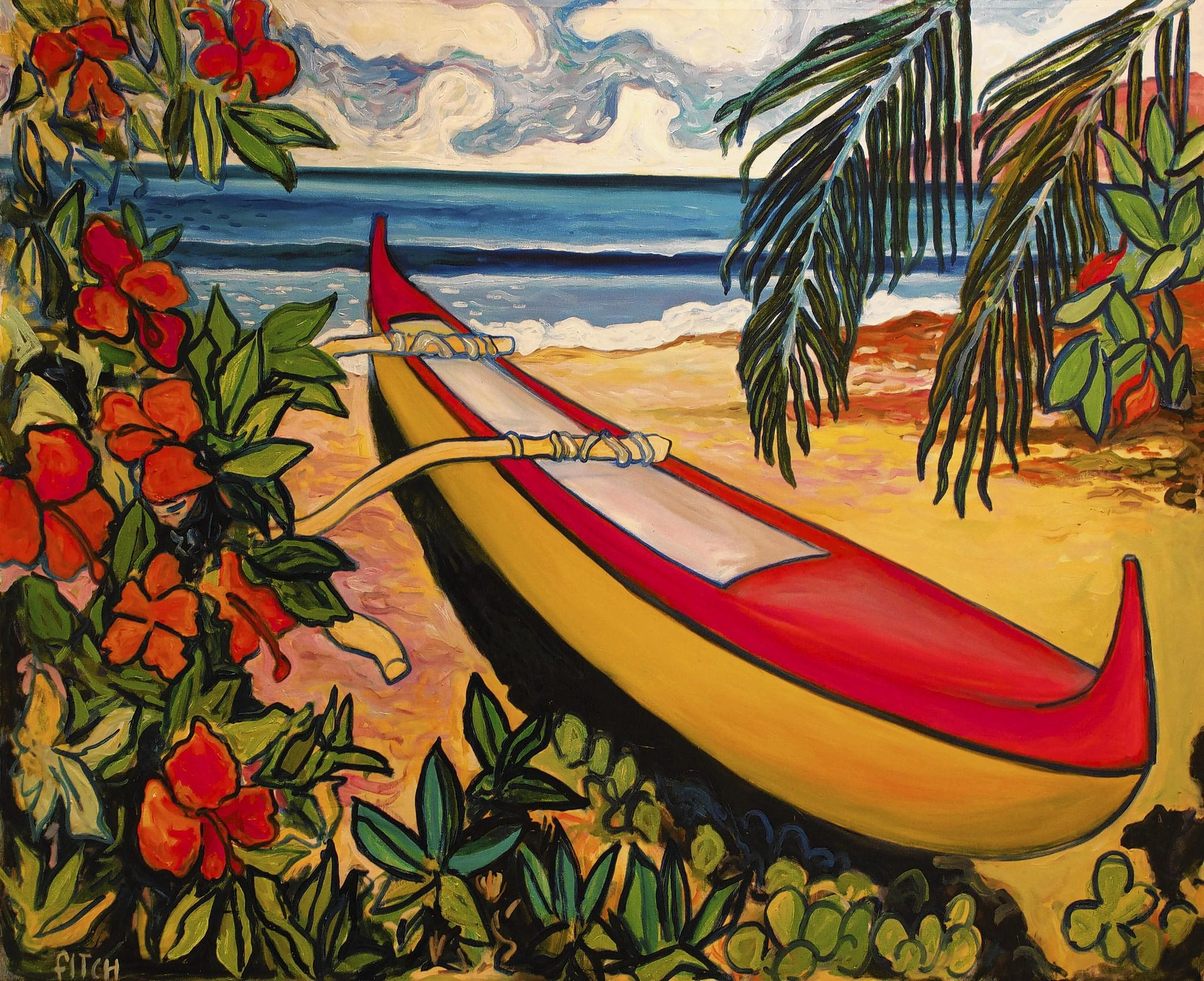 Rik Fitch, Outrigger, 21st century, Oil on canvas, , Collection of Melinda and Paul Sullivan