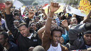 African migrants protest in Tel Aviv, demand better treatment