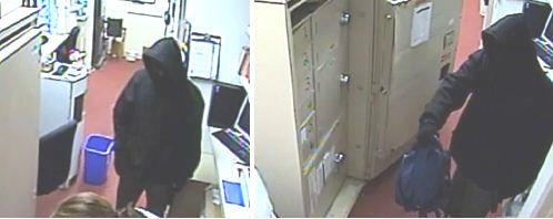 The FBI released surveillance photos of the person the agency says robbed the Bank of America Branch at 1019 East Atlantic Blvd. in Pompano Beach at about 7:45 a.m. Monday, Jan. 6, 2014.