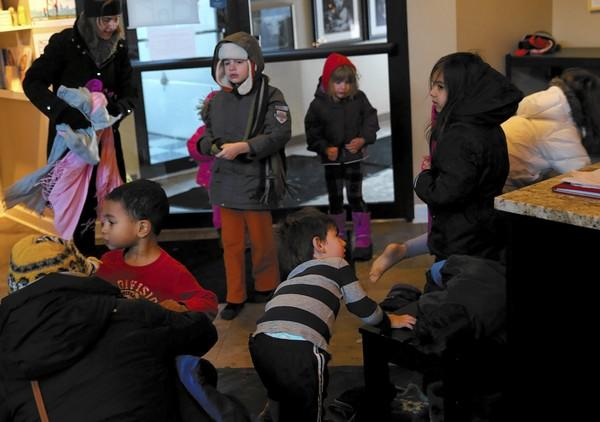 Little Beans Cafe, a play area and coffee shop in Bucktown, was open Monday morning. The kids burned off energy while parents got some much-needed laptop time.