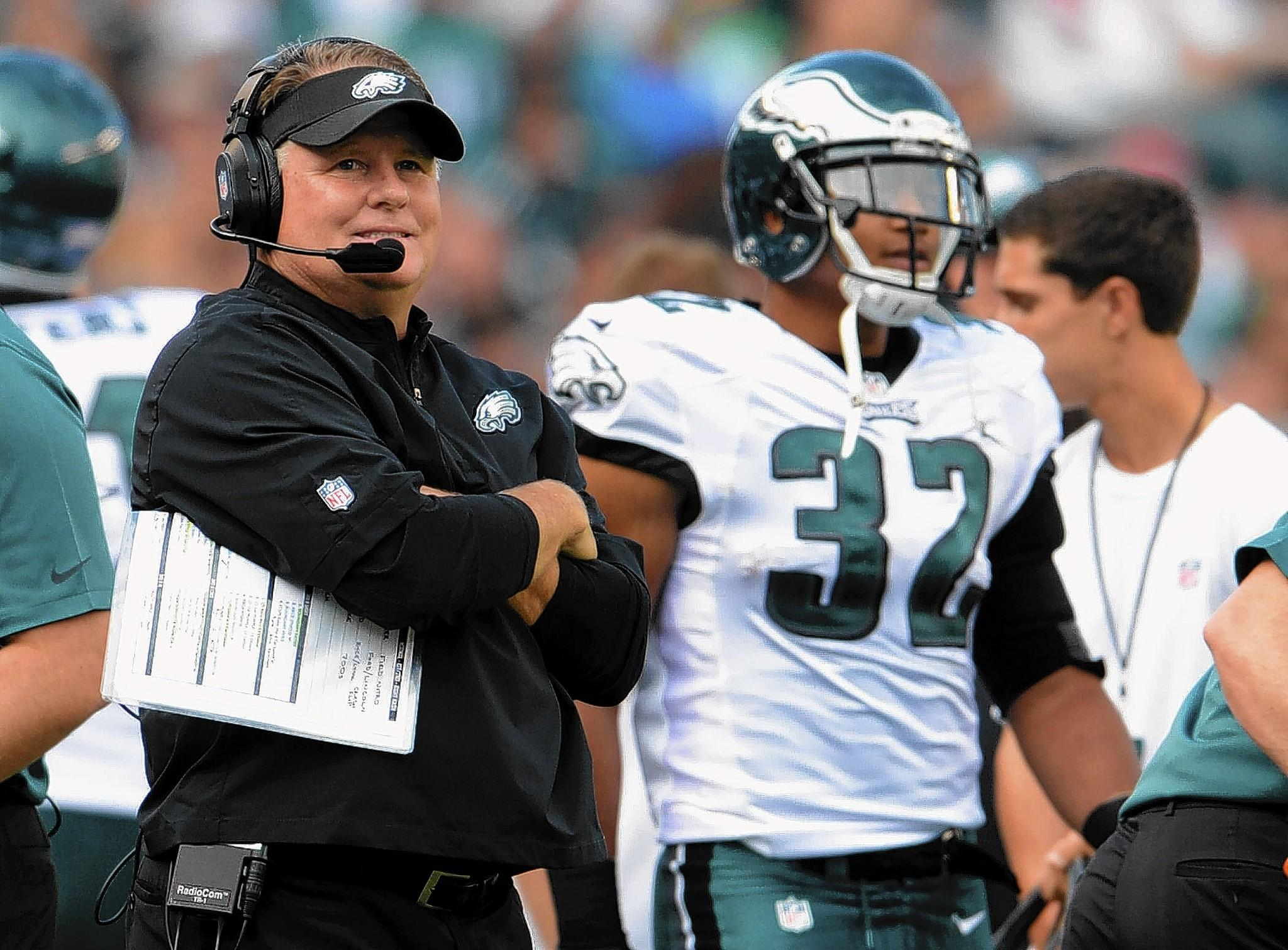 Eagles head coach Chip Kelly praise the energy his team has.