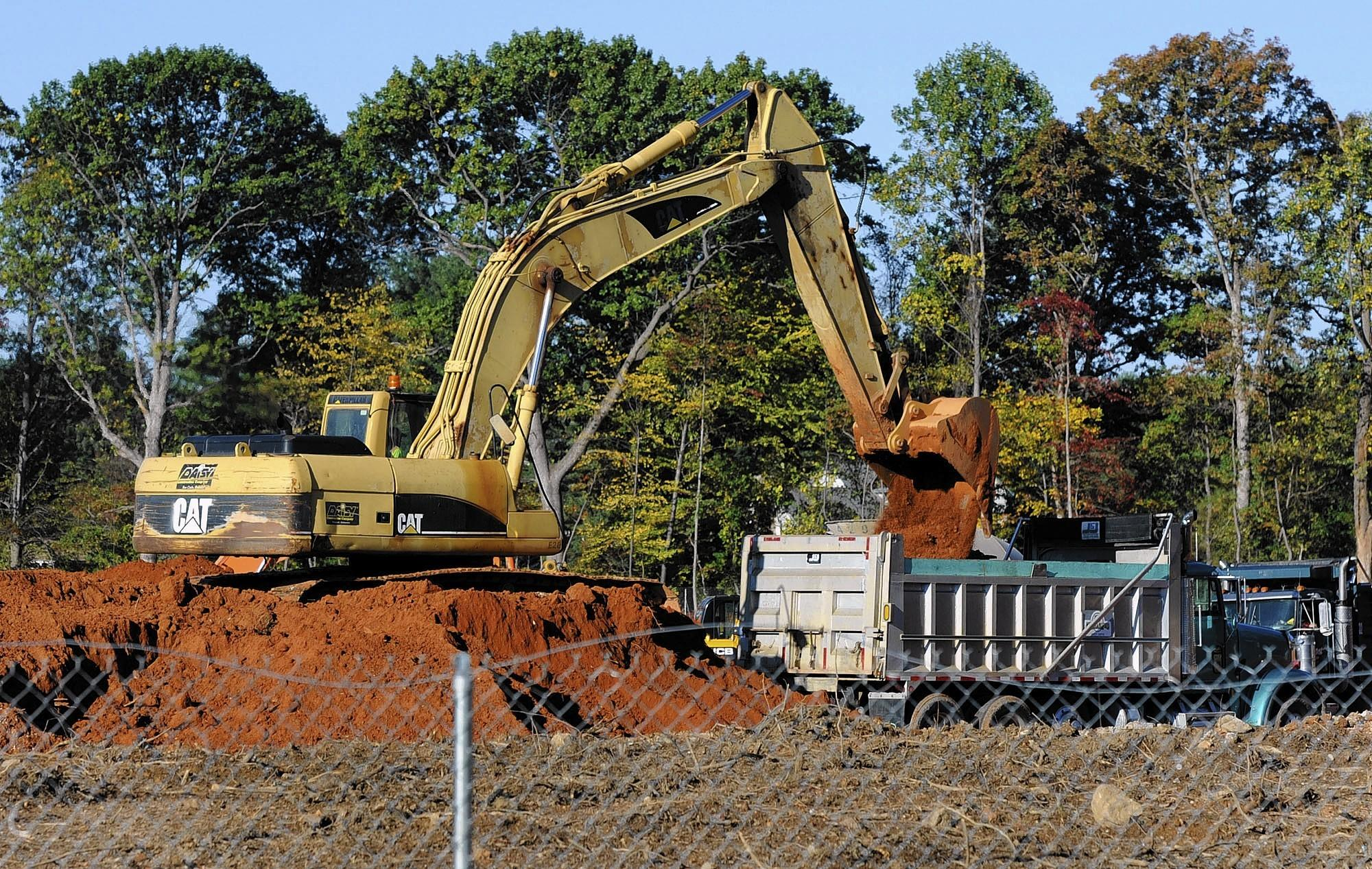 Construction continues at the future site of an elementary school in Mays Chapel on Oct. 18.