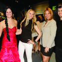 """Maddie Camp, left, Stephanie Tineo, Alice Harry and Ryan Martinez dress as """"The Hunger Games: Catching Fire"""" characters for Friends of MODS' """"Cocktails and Catching Fire"""" party Dec. 2 at the Museum of Discovery and Science."""
