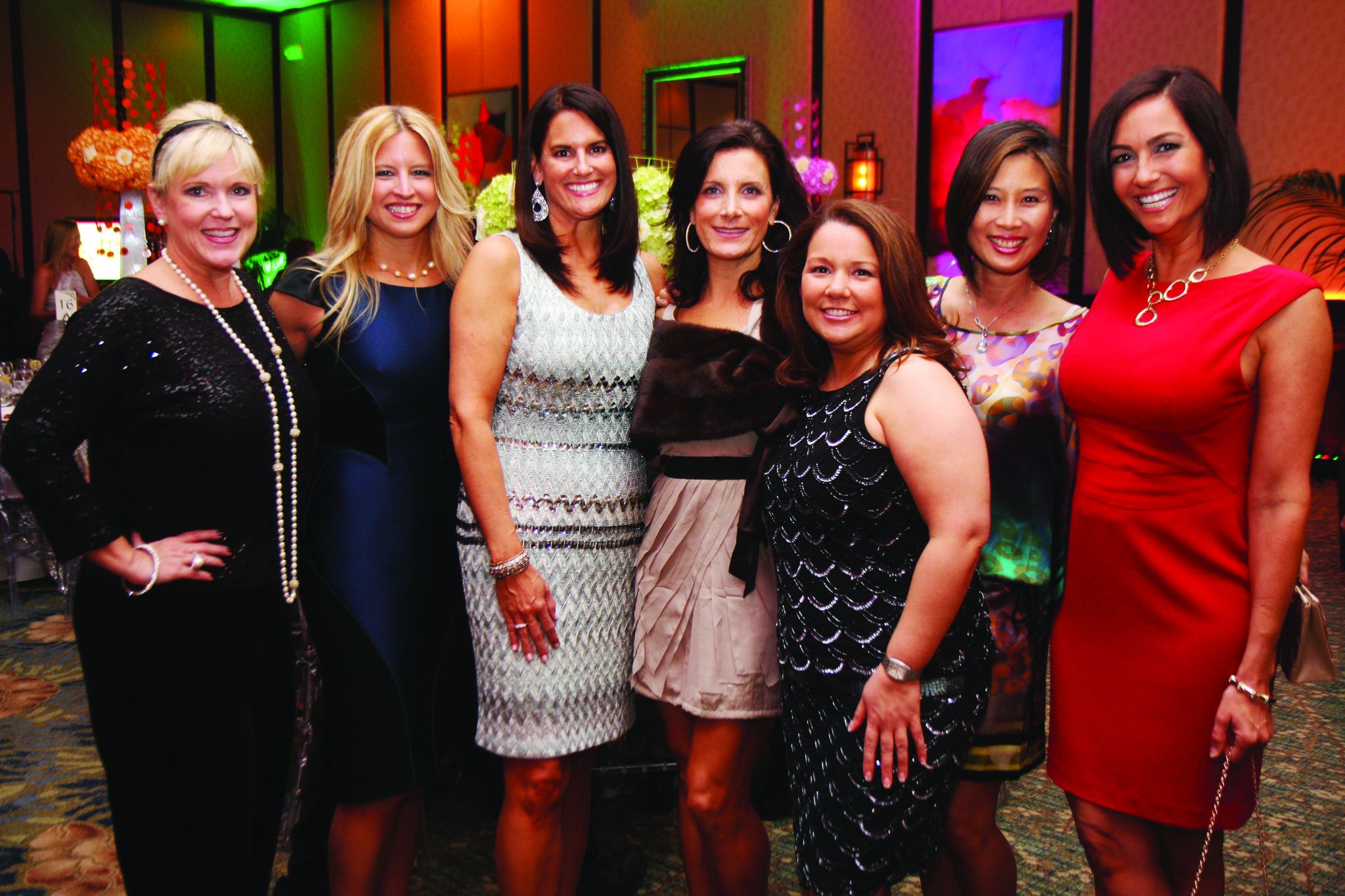 Society Scene photos - Nancy Dockerty, left, Kristen Ross, Kathy Adkins, Dorothy MacDiarmid, Fabiola Hooker, Debbie Faris and Melissa Whelchel looked fashionable at the Florence Fuller Child Development Centers