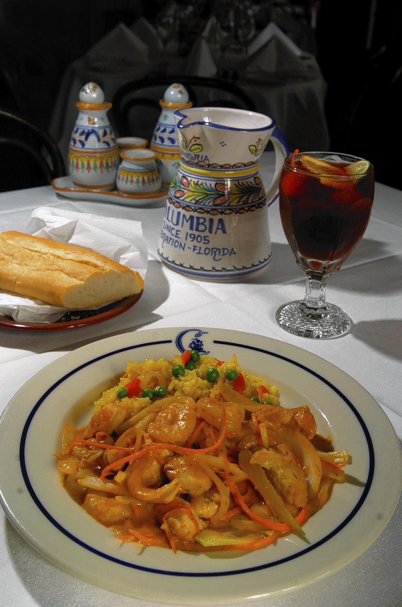 The Columbia Restaurant's Chicken & Shrimp Barcelona is a tasty melange, with a rich Corunesa sauce and cream.