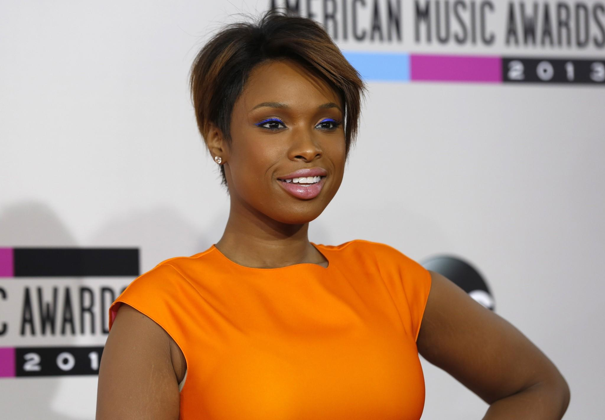 Jennifer Hudson arrives Nov. 24 at the 41st American Music Awards in Los Angeles.