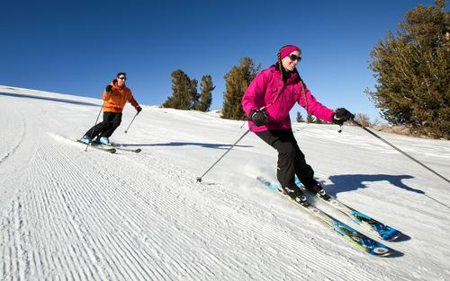 Less frantic and expensive than Mammoth Mountain 20 minutes away, June keeps family budgets in mind, letting ages 12 and younger ski free every day this season.