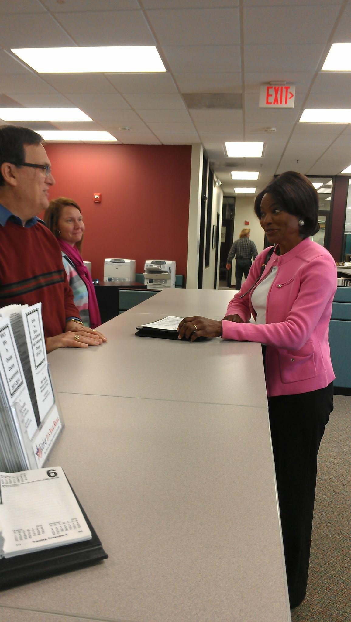 Former Orlando police chief Val Demings officially files the paperwork necessary to run for Mayor of Orange County.