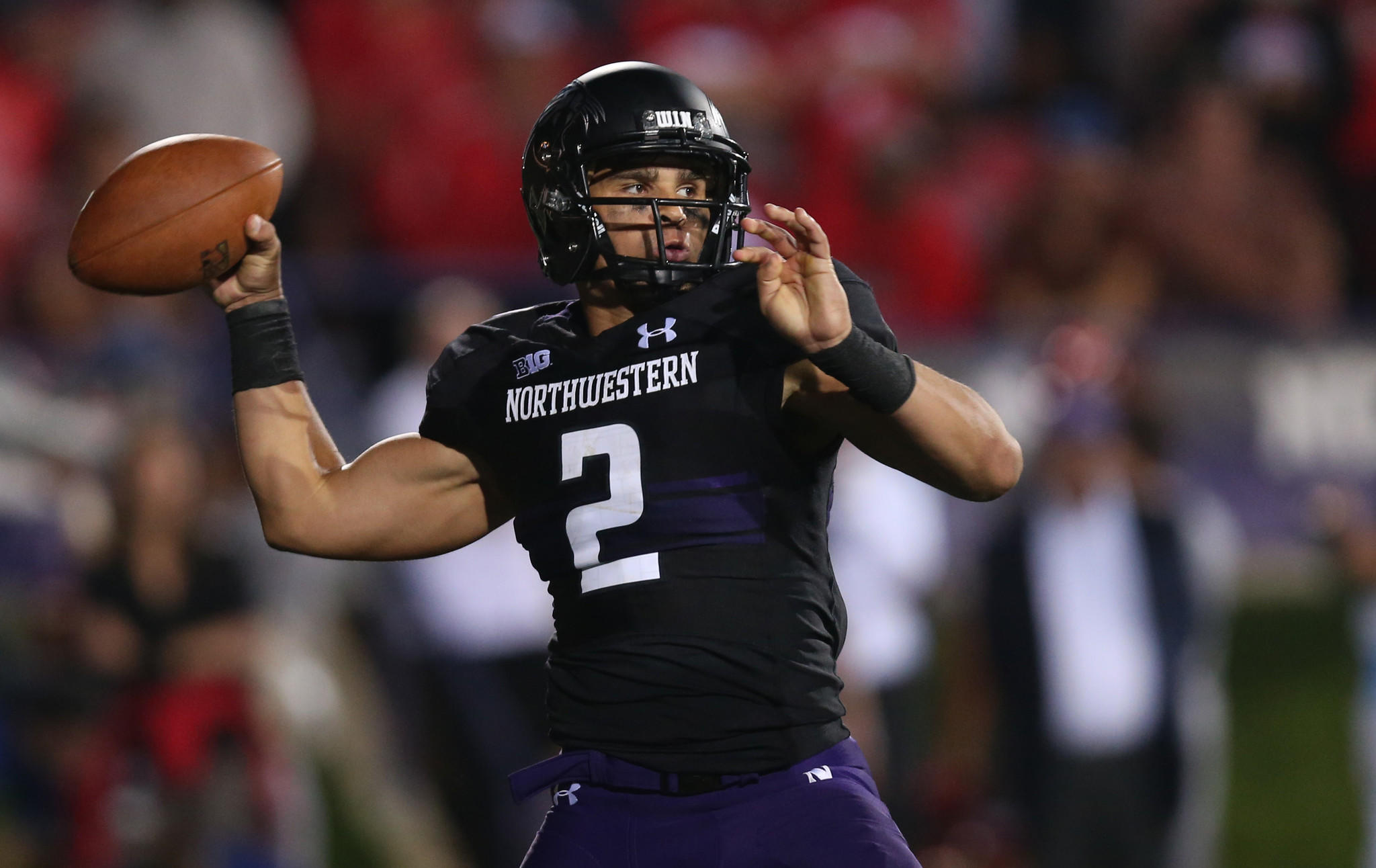 Northwestern quarterback Kain Colter throws a pass in the third quarter against Ohio State at Ryan Field.