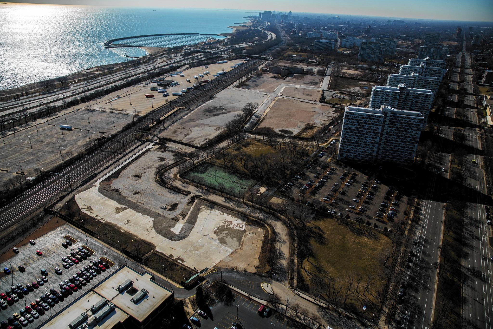 The former Michael Reese Hospital site on Chicago's Near South Side is a candidate location to house President Barack Obama's presidential library.