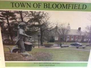 The Town of Bloomfield has sent out its annual report in the form of a calendar