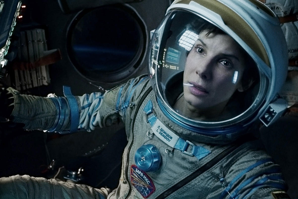 """Sandra Bullock in a scene from """"Gravity."""" The film received the most nominations, with 11."""