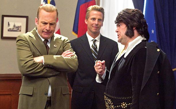 Jack Black as Elvis (right) meets Bob Odenkirk's Richard Nixon in 'Drunk History.'