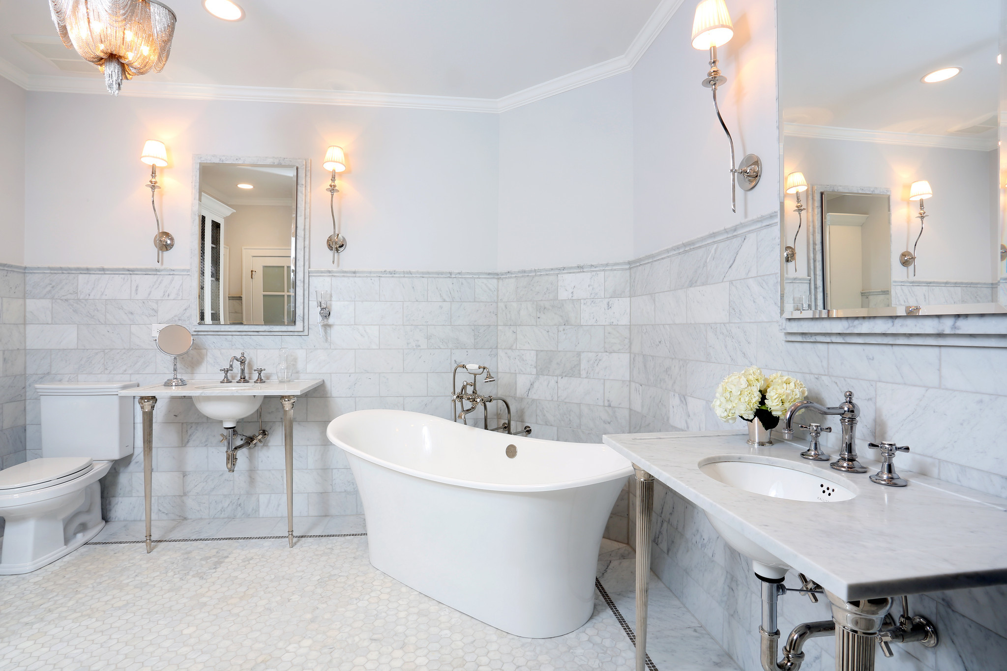 Parisian style bathroom in lagrange draws industry for Paris inspired bathroom ideas