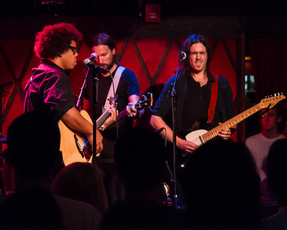 Jake Clemons and band Aug. 26, 2013, at Rockwood Music Hall, New York, N.Y.