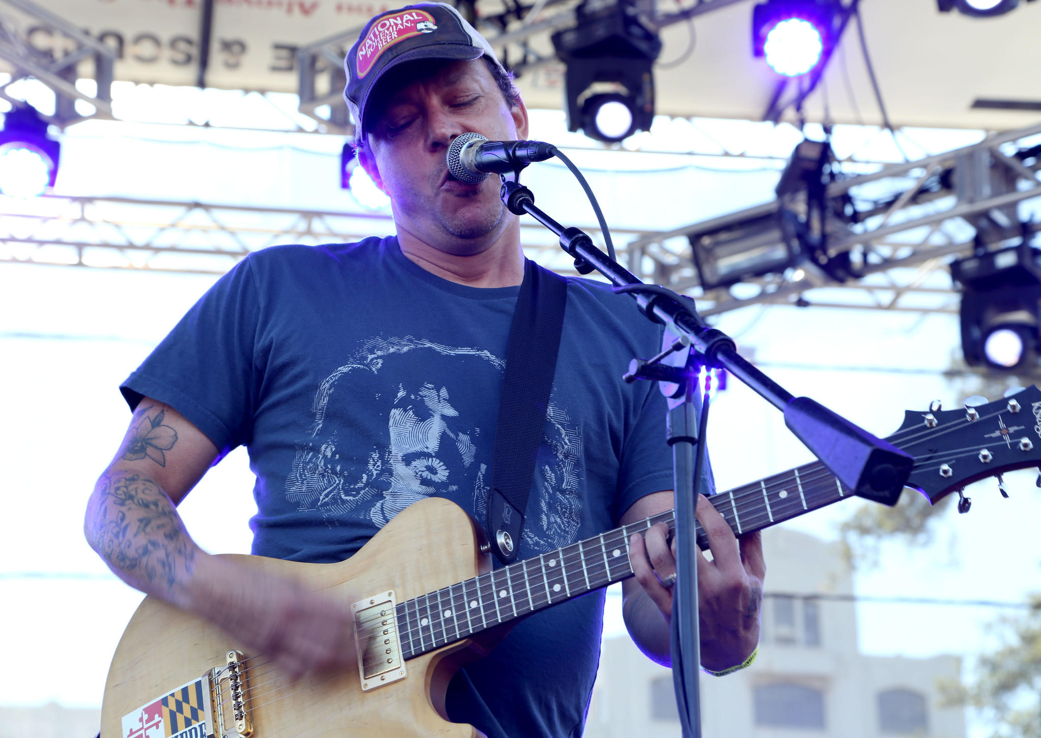 James Davies, better known as Jimi HaHa, performs with Jimmie's Chicken Shack at last summer's Shindig Festival.