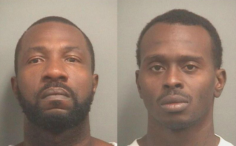 From left, Theopers Cooper Jr., 36 and Derrick Phillips, 30, both of Fort Lauderdale, are accused of breaking into a car in Boca Raton on Tuesday.
