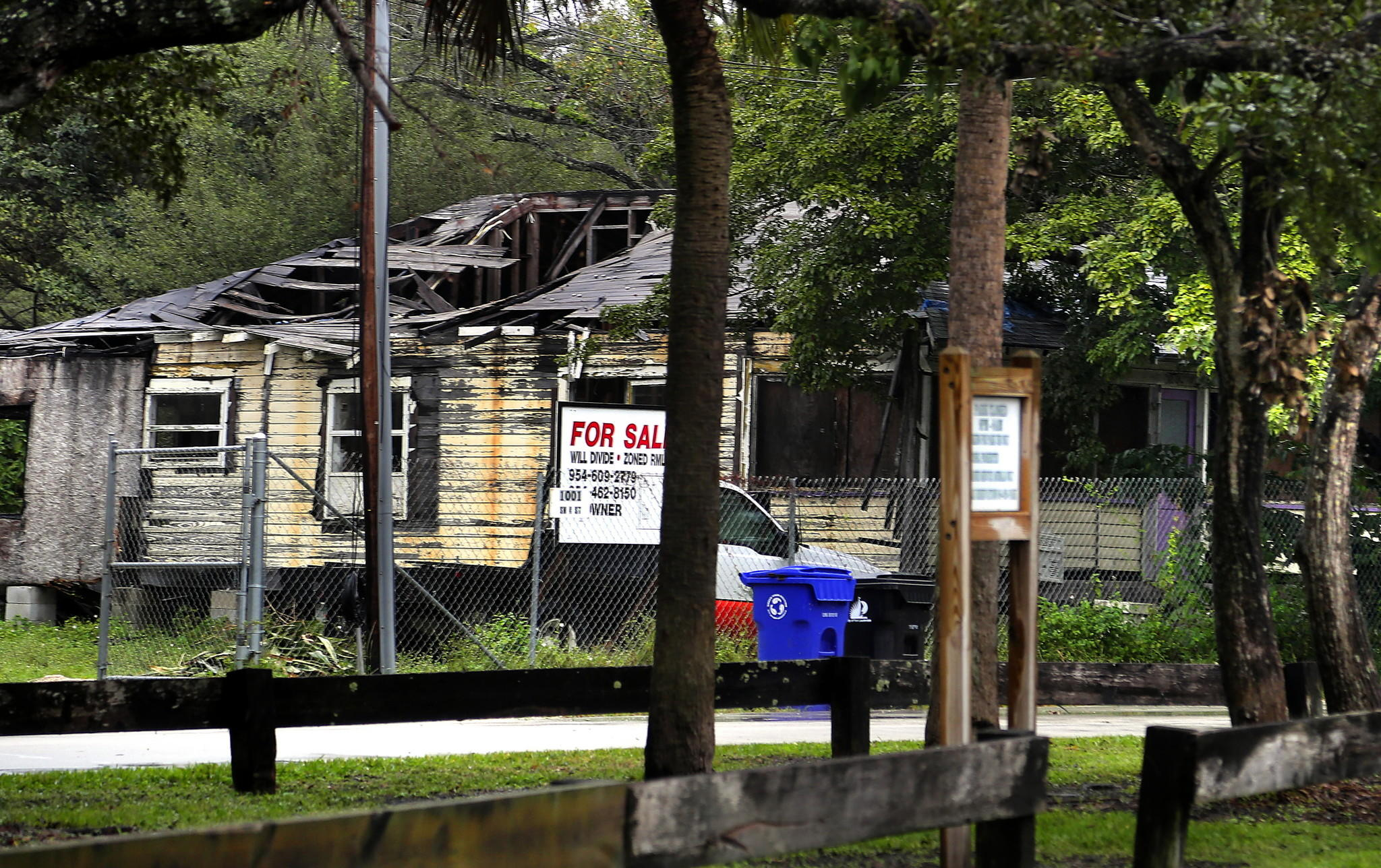 A dilapidated home is seen on the 1000 block of NW 4th Street in Sailboat Bend.