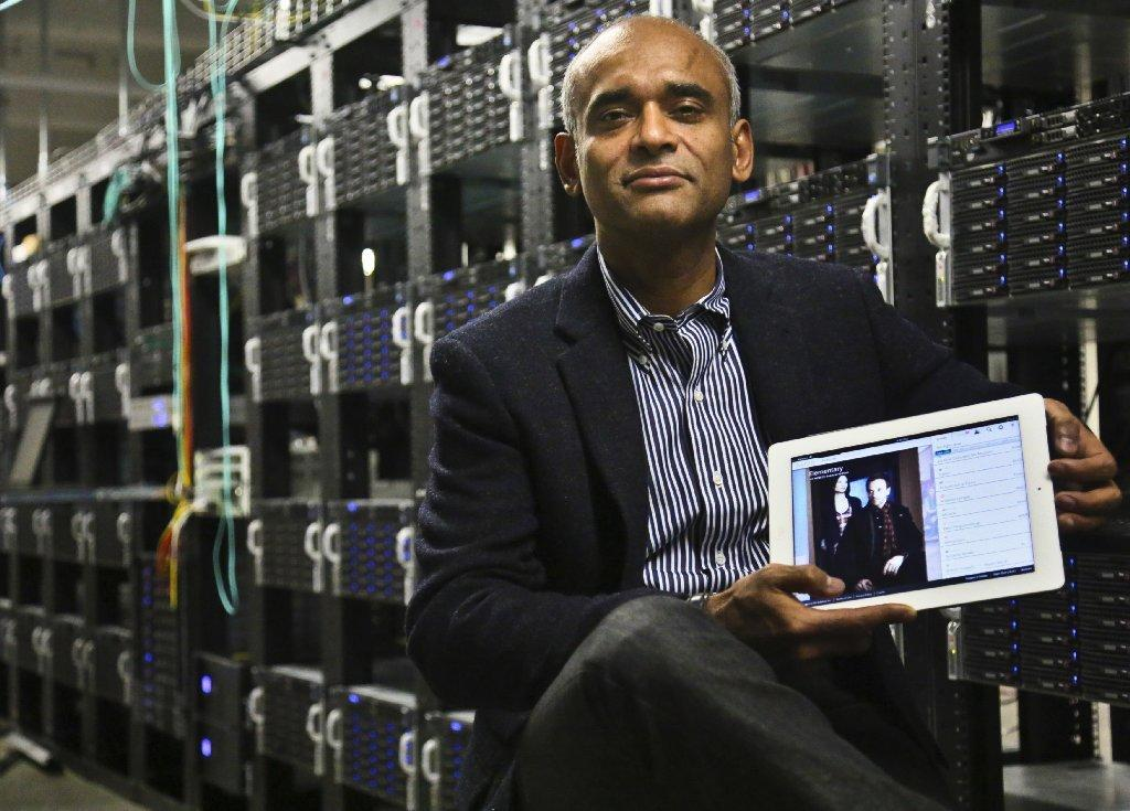 Aereo CEO Chet Kanojia says the service is not a threat to broadcasters.