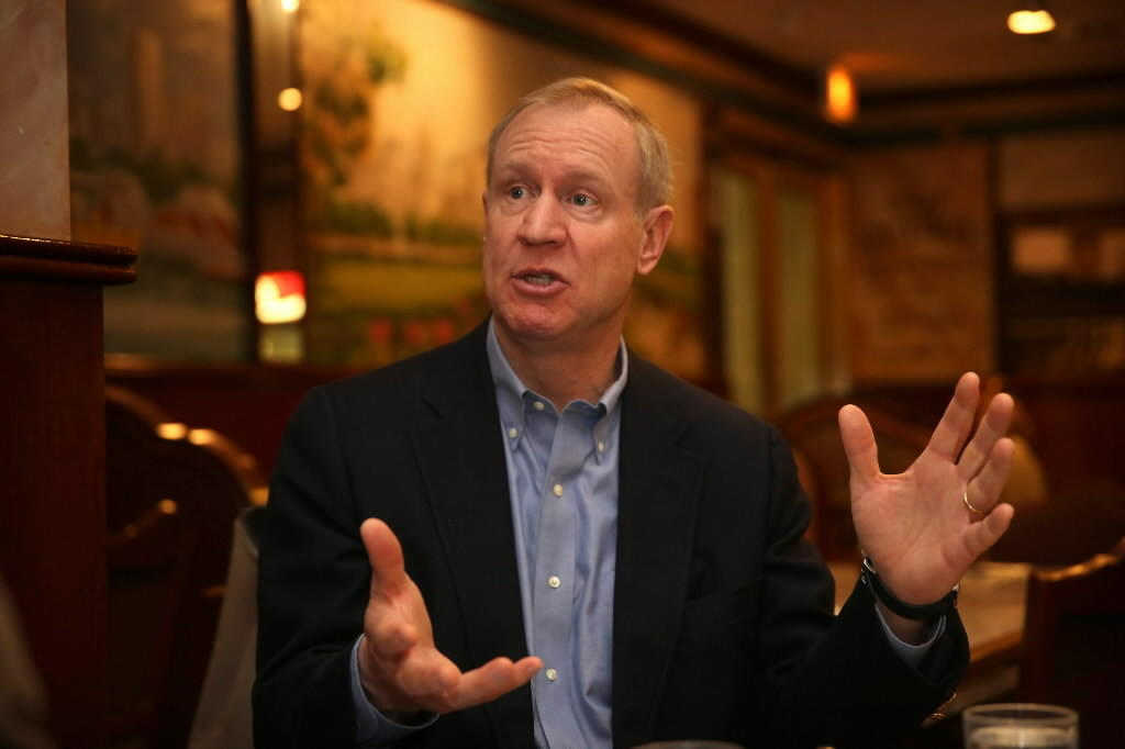 Bruce Rauner, Republican candidate for Illinois governor.