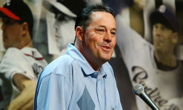 Major league starting pitcher Greg Maddux announces his retirement in Dec. 2008. Maddux, along with former Atlanta Braves teammate Tom Glavine and ex-Chicago White Sox slugger Frank Thomas, was inducted into the Baseball Hall of Fame on Wednesday.