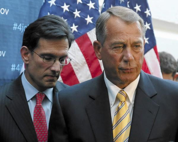 House Speaker John Boehner and Rep. Eric Cantor