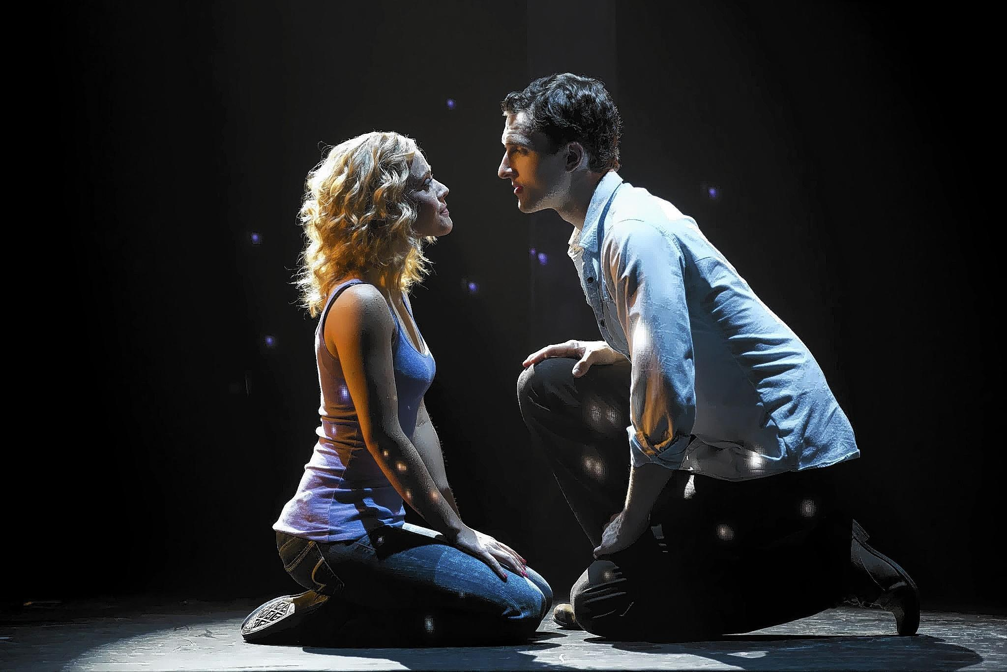 "Actors Katie Postotnik and Steven Grant Douglas star as Molly and Sam in the national tour of ""Ghost The Musical,"" which is adapted from the 1990 hit movie."