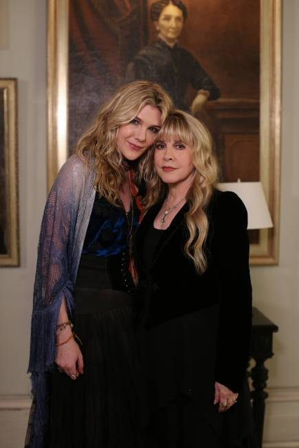 "Lily Rabe as Misty Day and Stevie Nicks (right) as herself on ""American Horror Story: Coven."""