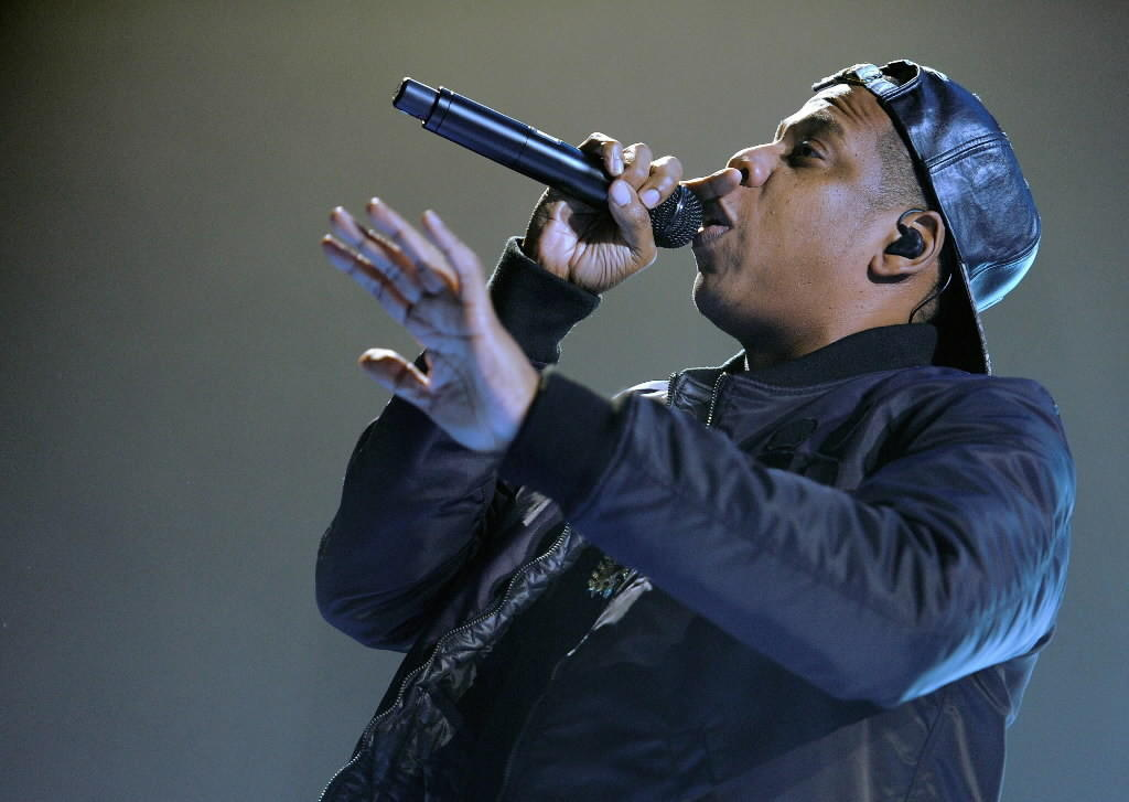"Rapper Jay-Z performs at the O2 World in Hamburg during his ""Magna Carter World Tour"" Oct. 27, 2013"