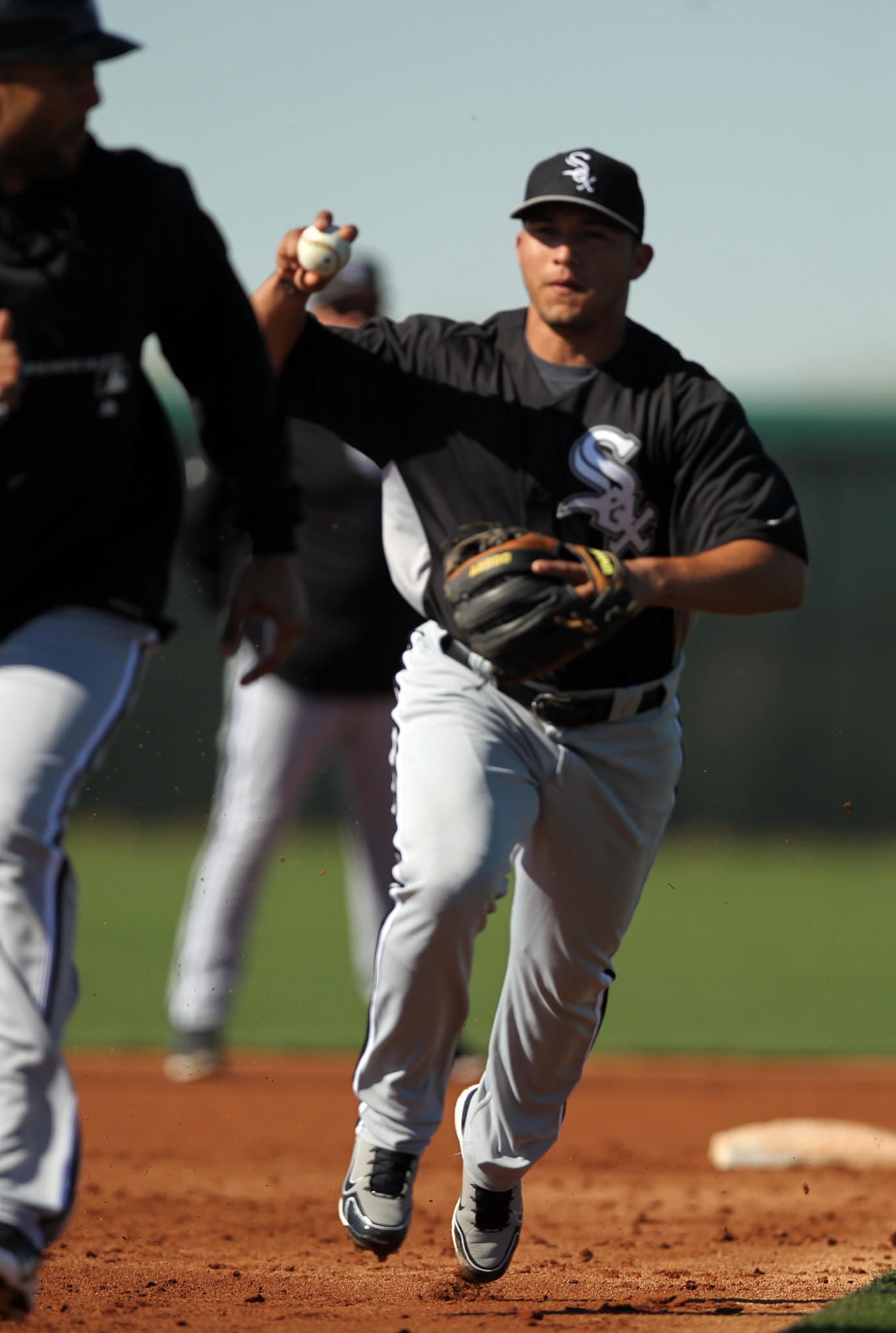 Chicago White Sox' Carlos Sanchez during Spring Training at Camelback Ranch in Glendale, Arizona on Friday, Feb. 22, 2013.