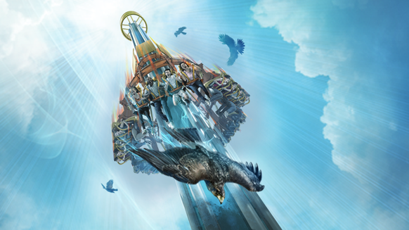 Falcon's Fury will be a 335-foot-tall drop ride at Busch Gardens Tampa Bay set to open in spring 2014.
