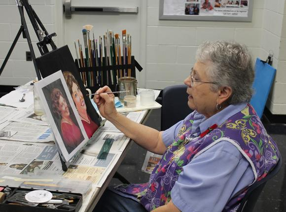 Painting is one subject offered by the Newport News parks and recreation department.